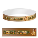 Pack of 30 Bronze Award Adhesive Paper Wristbands