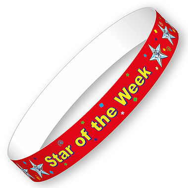 Star of the Week Wristbands (10 Wristbands - 265mm x 18mm)