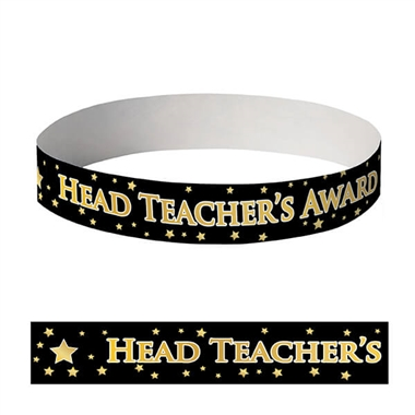 Head Teacher's Award Wristbands (10 Wristbands - 230mm x 18mm)