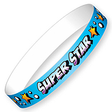 Super Star Glossy Wristbands (10 Wristbands - 220mm x 13mm) Brainwaves