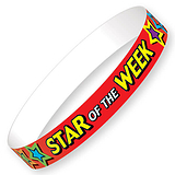 Star of the Week Glossy Wristbands (10 Wristbands - 220mm x 13mm) Brainwaves