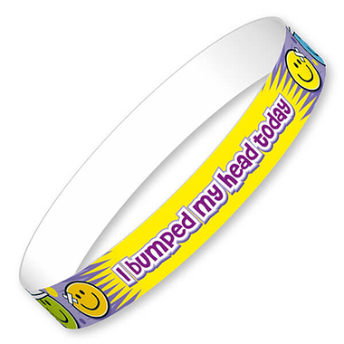 I Bumped My Head Today Wristbands (40 Wristbands - 220mm x 13mm) Brainwaves