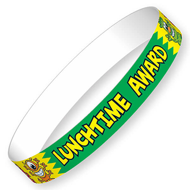 Lunchtime Award Wristbands (10 Wristbands - 220mm x 13mm) Brainwaves