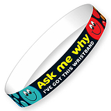 Ask Me Why Wristbands (10 Wristbands - 220mm x 13mm) Brainwaves