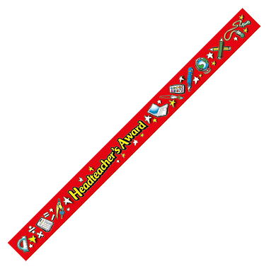 Headteacher's Award Wristbands - Red (40 Wristbands - 220mm x 13mm) Brainwaves