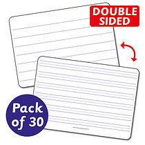 Pack of 30 A4 Handwriting Plastic Whiteboards