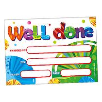 Scented Bubblegum Certificates - Well Done (20 Certificates - A5)