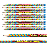 100% Attendance Foil Pencils (12 Pencils) Brainwaves