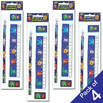 Pack of 4 Monster Stationery Sets