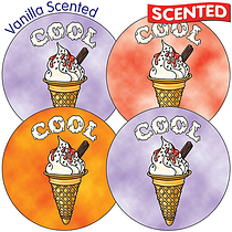 Scented Ice Cream Stickers - Cool (35 Stickers - 37mm)