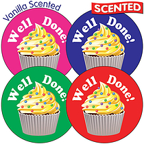 35 Well Done Mixed Colours 37mm Vanilla Scented Stickers
