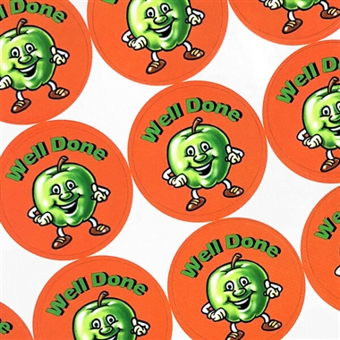 Scented Apple Stickers - Well Done (35 Stickers - 37mm)