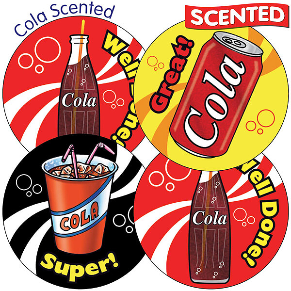 Scented cola stickers drinks 35 stickers 37mm