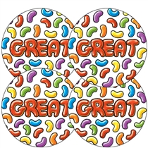 Great Jellybean Scented Stickers 37mm x 35