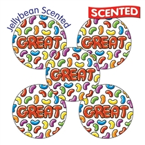 Jellybean Scented Stickers - Great (30 Stickers - 25mm)