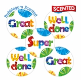 SCENTED Bubblegum REWARD Stickers (30 Stickers - 25mm)