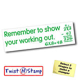 Show Your Working Out Twist & Stamp Stamper Brick (38mm x 15mm)
