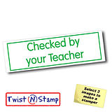 Checked By Your Teacher Twist & Stamp Brick Stamper