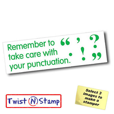 Take Care With Punctuation Twist & Stamp Brick Stamper
