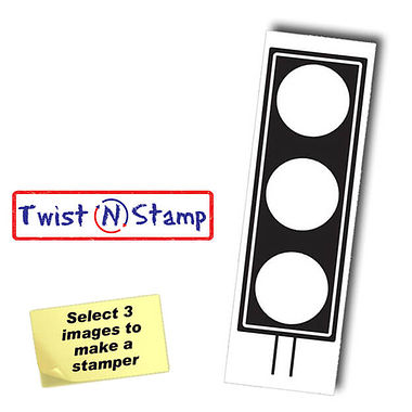 Traffic Light Image Twist & Stamp Stamper Brick (38mm x 15mm)