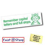 Remember Capitals & Full Stops Twist & Stamp Brick Stamper