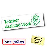 Teacher Assisted Work Lion Twist & Stamp Brick Stamper