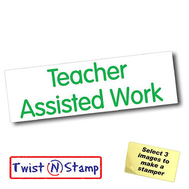 Teacher Assisted Work Twist & Stamp Brick Stamper