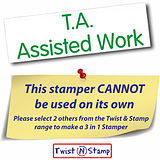 T. A.  Assisted Work Twist & Stamp Brick Stamper