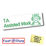 T. A. Assisted Work Tiger Twist & Stamp Brick Stamper