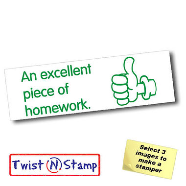 An Excellent Piece of Homework Twist & Stamp Brick Stamper