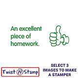 An Excellent Piece of Homework Twist & Stamp Brick Stamper