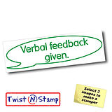 Verbal Feedback Given Stamper - Twist N Stamp