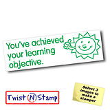 Achieved Learning Objective Sun Twist & Stamp Stamper Brick (38mm x 15mm)