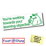 Towards Learning Objective Bear Twist & Stamp Stamper Brick (38mm x 15mm)