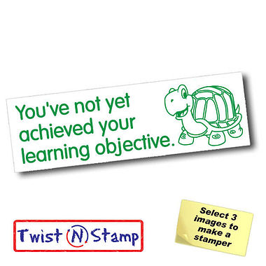 Not Acheived Learning Objective Tortoise Twist & Stamp Brick Stamper