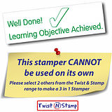 Learning Objective Achieved Tick Twist & Stamp Brick Stamper