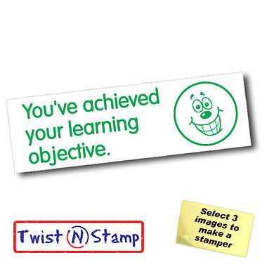 Achieved Learning Objective Grin Twist & Stamp Brick Stamper