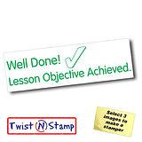 Lesson Objective Achieved Twist & Stamp Brick Stamper