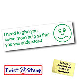 I Need to Give You More Help Twist & Stamp Brick Stamper
