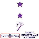2 Stars and a Wish Twist & Stamp Brick Stamper