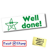 Star Well Done Twist & Stamp Stamper Brick (38mm x 15mm)