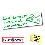 Take Care with Presentation Stamper - Twist N Stamp