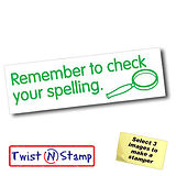 Remember to Check Your Spelling Twist & Stamp Brick Stamper