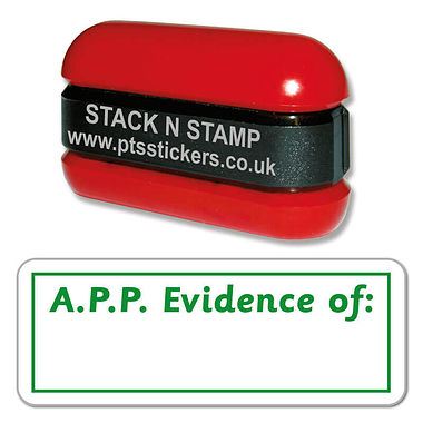 A.P.P. Evidence of: Stack & Stamp - Green Ink (38mm x 15mm)