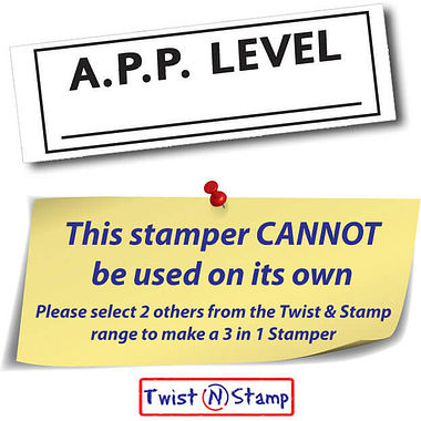 A.P.P. Level Twist N Stamp Brick Stamper - Black Ink (38mm x 15mm)
