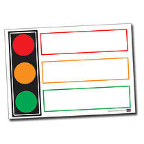 A1 Write & Wipe Traffic Light Poster FREE PEN