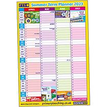 A2 Summer Term Academic Planner (A2 Poster)