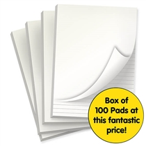 A4 lined Notepads BARGAIN OFFER FOR SCHOOLS (A4, 50 Page, Lined, 100 Pads)