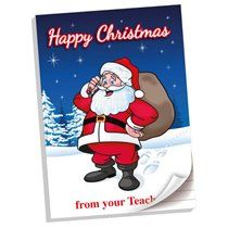 A4 Note Pad: Happy Christmas from your Teacher