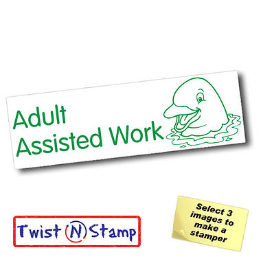 Adult Assist Work Dolphin Twist & Stamp Stamper Brick (38mm x 15mm)